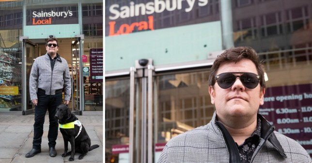 Sainsbury's refuse entry to blind man and guide dog
