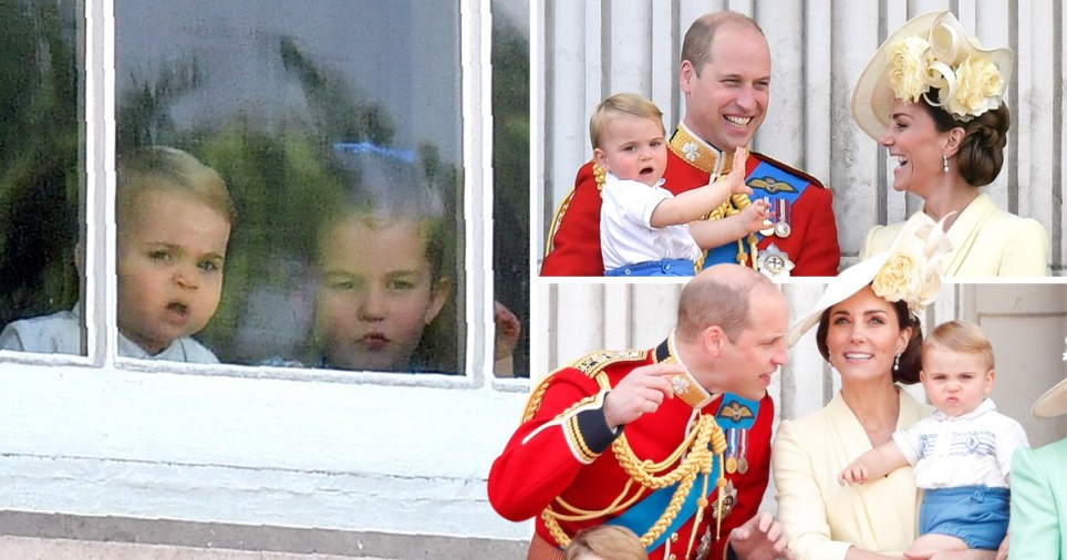 Prince Louis looks unimpressed during first ever royal engagement