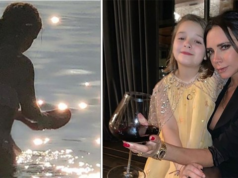 Victoria Beckham and daughter Harper pick up plastic from sea for World Ocean Day