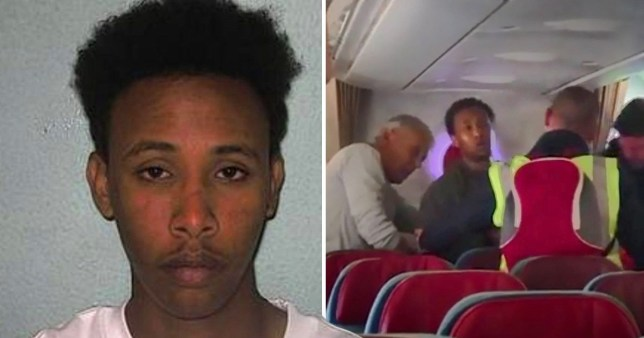 The passengers were unaware the man they were defending had been sentenced to nine years in jail for his part in the gang rape of a teenage girl at a flat in North London