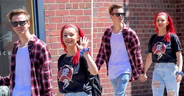 Strictly Come Dancing's Joe Sugg and Dianne Buswell in New York City