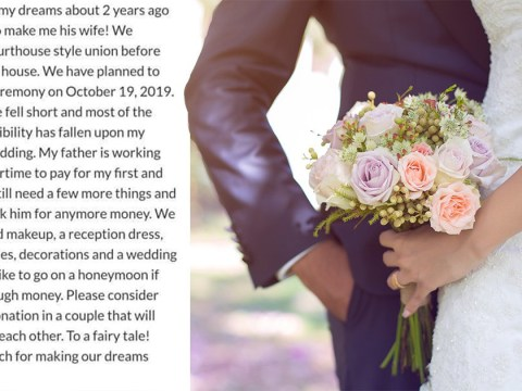 Bride whose dad is working overtime to help with wedding crowdfunds for more money