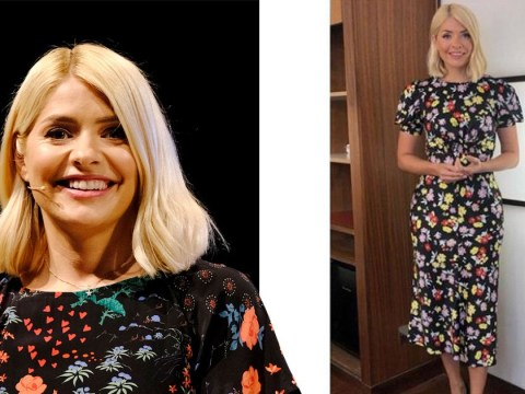Holly Willoughby is feeling the flower power in dress that's anything but dreary