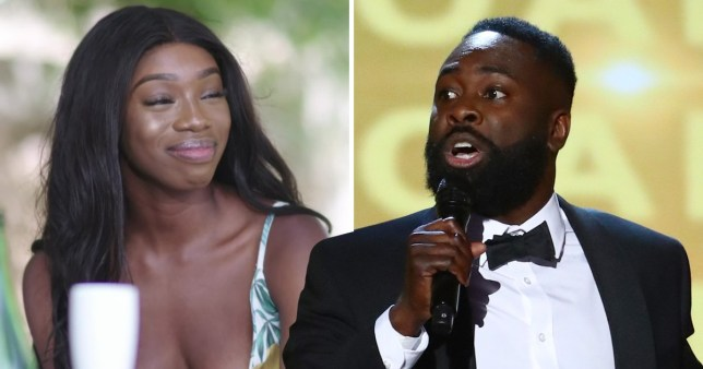 Love Island's Yewande Biala with Britain's Got Talent comedian Kojo Anim