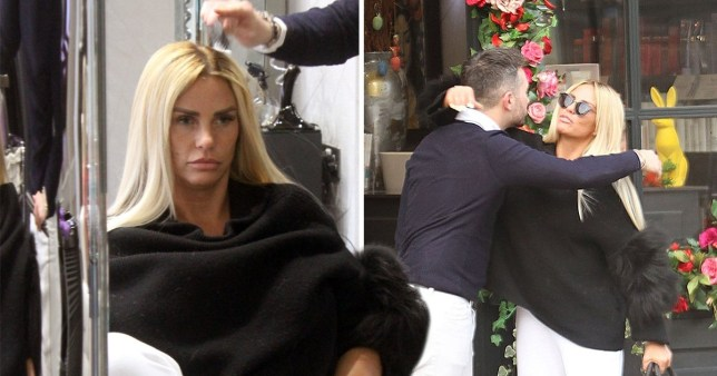 Katie Price gets hair done