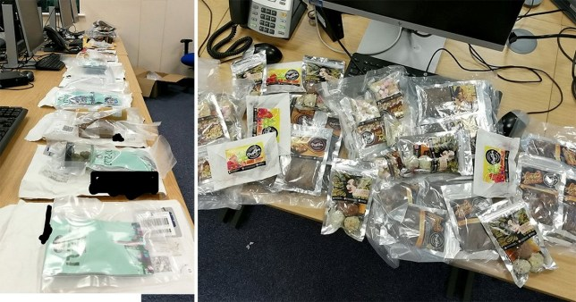 Parcels of hash brownies and weed found at Royal Mail sorting centre