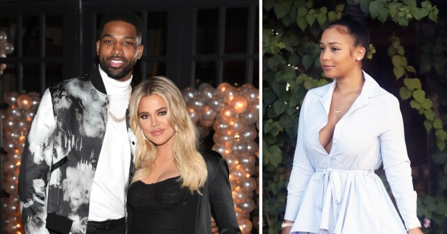Khloe Kardashian and Tristan Thompson with his ex Jordan Craig