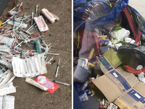 More than 400 needles and gas canisters found in homeless person's tent