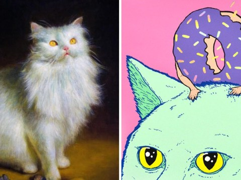 Cat art, anyone? 30 cat-themed paintings to go on sale in cat-only art show