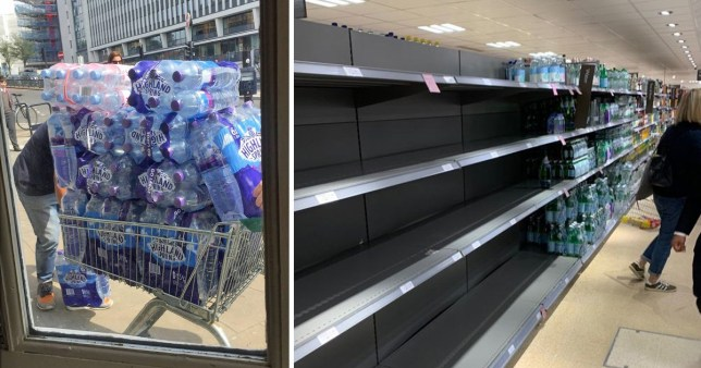 Panic buying in Twickenham with water shortages