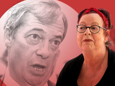 What did Jo Brand say about milkshake throwing and how has Nigel Farage responded?