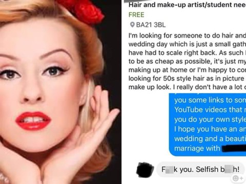 Bride asks makeup artist to work for free or do it for 'probably £10'