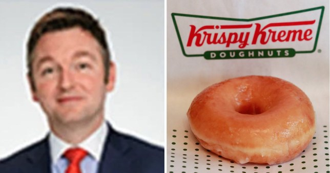 Boss James Conmy suspended over inappropriate email about collague's love for glazed rings, with krispy kreme doughnut