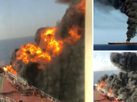 Oil tankers 'blown up after being torpedoed off coast of Oman'