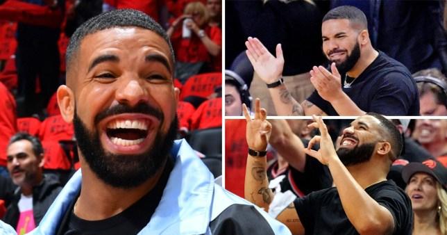 Drake celebrates at Toronto Raptors games