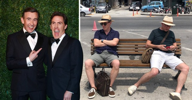Rob Brydon and Steve Coogan film The Trip To Greece