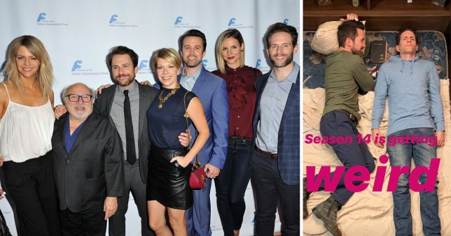 It's Always Sunny In Philadelphia cast and behind the scenes season 14 photo