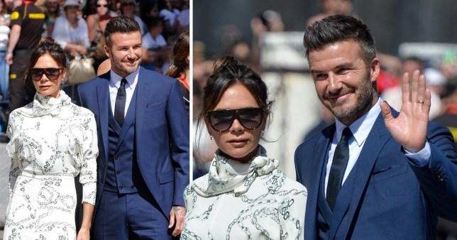 Victoria Beckham wedding with David