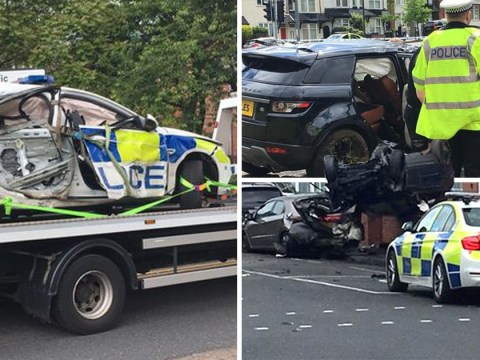Officer seriously injured in crash with 4×4 being chased by police