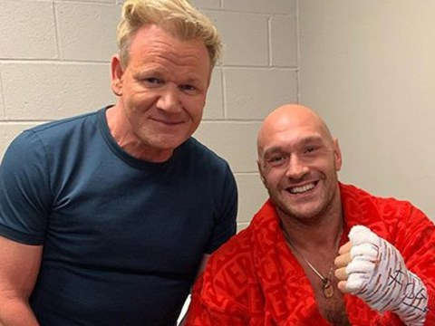 Gordon Ramsay gives Tyson Fury 'pep talk' ahead of Tom Schwarz fight – and it works
