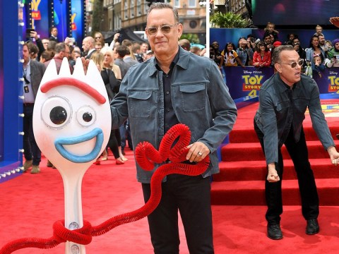 Tom Hanks and Forky walk red carpet together at Toy Story 4 premiere and our hearts have melted