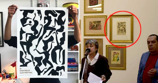 Artist Malika Favre discovers her work in exhibition under dead painter's name