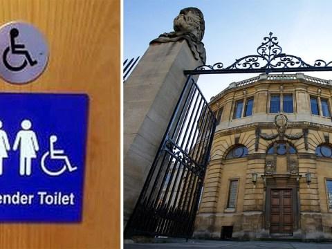 Oxford University students stage 'Brexit' referendum over gender-neutral toilets