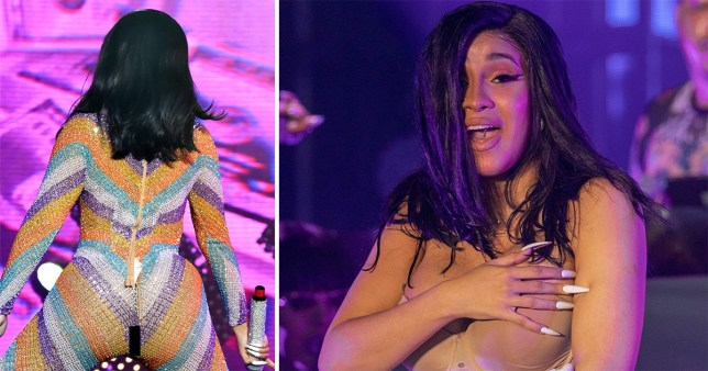 Cardi B twerked so hard at Bonnaroo that she split her catsuit and performed in bathrobe