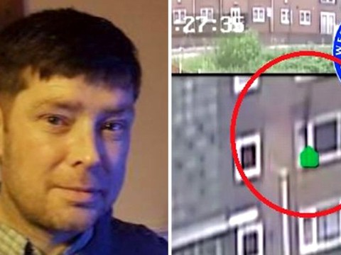 Killer caught on CCTV climbing through victim's window before dumbbell murder