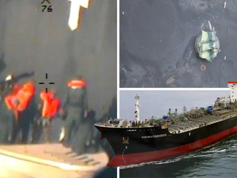 New Pentagon pictures give 'proof' that Iran attacked oil tankers