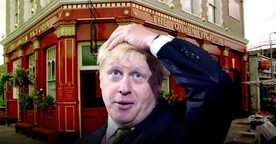 Boris Johnson in EastEnders