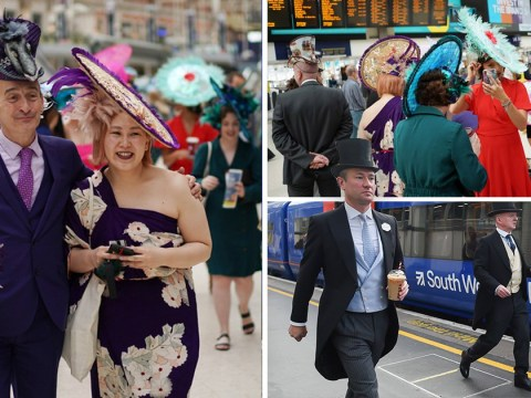 People heading to Royal Ascot forced to squeeze onto trains during rail strike