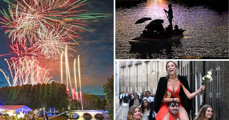 Cambridge students celebrate end of exams with fireworks at £345-a-ticket ball Trinity May ball