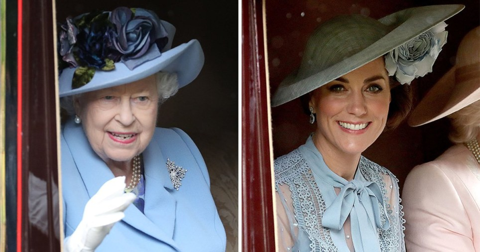 The Queen and the Duchess of Cambridge were matching in blue at Royal Ascot