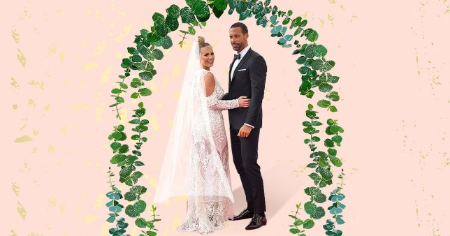Kate Wright and Rio Ferdinand British Academy Television Awards and wearing wedding outfits