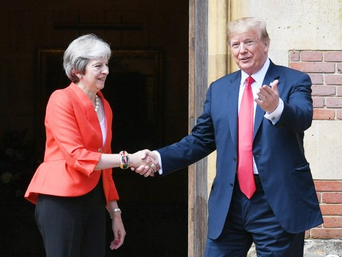 What has Donald Trump said about Theresa May on Twitter?