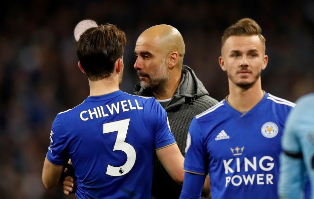 Ben Chilwell was flattered by Pep Guardiola's praise after Leicester's defeat at Manchester City
