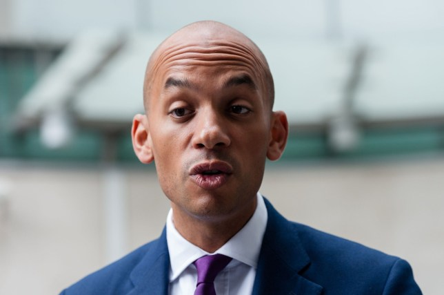 Mandatory Credit: Photo by Wiktor Szymanowicz/REX (10240837j) Change UK The Independent Group Spokesperson Chuka Umunna The Andrew Marr Show, London, UK - 19 May 2019