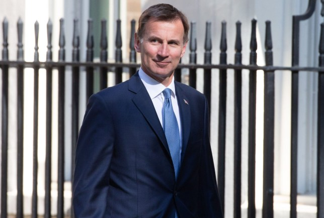 Mandatory Credit: Photo by Mark Thomas/REX (10242308ak) Jeremy Hunt, Secretary of State for Foreign and Commonwealth Affairs, arrives for the last Cabinet meeting before the European elections. Cabinet meeting, London, UK - 21 May 2019