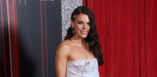 Mandatory Credit: Photo by David Fisher/ITV/REX (10256781ad) Faye Brookes The British Soap Awards, Arrivals, The Lowry, Manchester, Britain - 01 Jun 2019