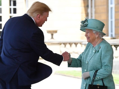 Did Donald Trump just fistbump the queen?