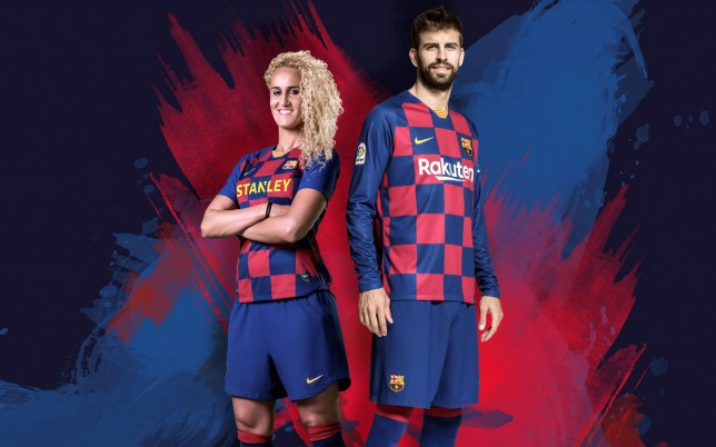 low priced 6a202 50f45 Nike reveal new Barcelona 'checkboard' kit for 2019-2020 ...