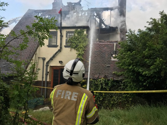 JLS Ortise Williams house fire, Croydon (Picture: London Fire Brigade)