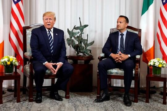 President Donald Trump meets with Irish Prime Minister Leo Varadkar, Wednesday, June 5, 2019, in Shannon, Ireland.