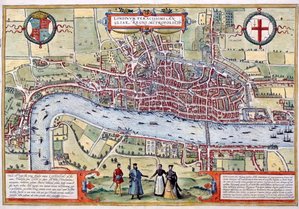 Map City London.Incredibly Rare Ancient Map Of London Is Discovered From 1572 And