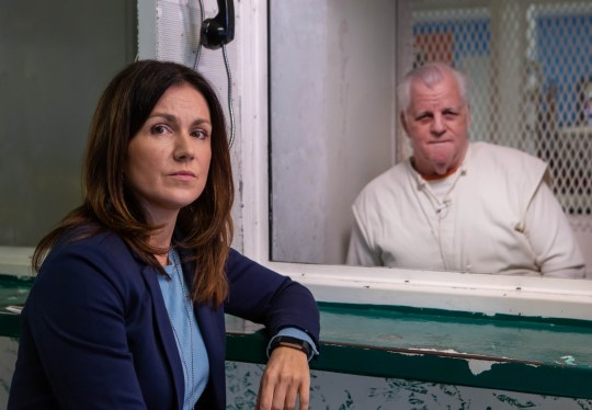 From MultiStory Media DEATH ROW : COUNTDOWN TO EXECUTION Ep2 Thursday 20th June 2019 on ITV Pictured: Susanna Reid meets notorious Death Row inmate Billie Wayne Coble at the Polunksy Unit Prison, Livingston Texas Susanna Reid travels to Texas, home of the most active death chamber in the United States, to meet the notorious Death Row inmate Billie Wayne Coble ? a man once described by a Prosecutor as having ?a heart full of scorpions? ? in the countdown to his scheduled execution. In 1989, Billie pled guilty to triple murder and has been languishing on Death Row ever since. Now 70 years old, Billie is fighting for a last minute stay of execution ? if it fails, he is set to become the oldest man put to death in Texas for over 100 years. Susanna is granted Billie?s final television interview in the 8 day run up to his death date. In this intense meeting, Susanna revisits the night of the crime in an attempt to find out why Billie Wayne committed these senseless murders. Delving into his family life, Susanna builds a picture of what kind of man Billie was back in 1989, and what kind of man he is now. Death is inevitable but what is it like knowing when, where and how you are going to die? (C) MultiStory Media For further information please contact Peter Gray 0207 157 3046 peter.gray@itv.com This photograph is ? MultiStory and can only be reproduced for editorial purposes directly in connection with the programme DEATH ROW:COUNTDOWN TO AN EXECUTION or ITV. Once made available by the ITV Picture Desk, this photograph can be reproduced once only up until the Transmission date and no reproduction fee will be charged. Any subsequent usage may incur a fee. This photograph must not be syndicated to any other publication or website, or permanently archived, without the express written permission of ITV Picture Desk. Full Terms and conditions are available on the website https://www.itv.com/presscentre/itvpictures/terms