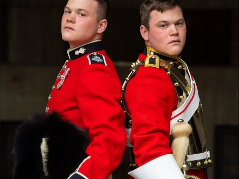 Identical twins among 1,400 soldiers Trooping the Colour for Queen's birthday