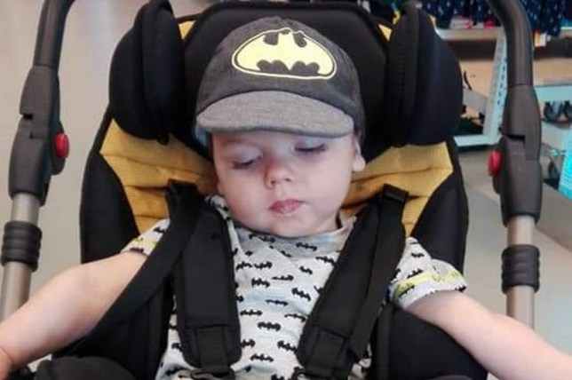 """The family of a toddler who had up to 150 spasms a day are raising awareness of the rare condition. Two-year-old Tristan Hutchings was having spasms when he was just weeks old but it wasn't until he was nine months old that he finally got a diagnosis. Parents Adrian Hutchings, 38, and Sarah Huyton, 33, raised concerns to their GP but they were told it was probably a """"severe milk allergy"""" or """"reflux"""". Credit: Nottinghamshire Live/BPM"""