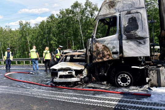 Six dead and eleven injured after horror pile-up in Poland | Metro News