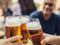 People enjoying beer together